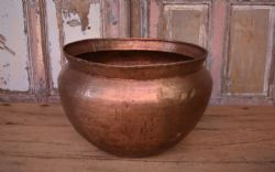 Old copper water vessel, Rajasthan